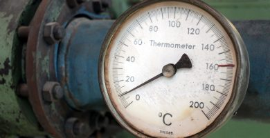 termómetro antiguo